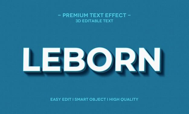 Modelo de efeito de estilo de texto leborn 3d