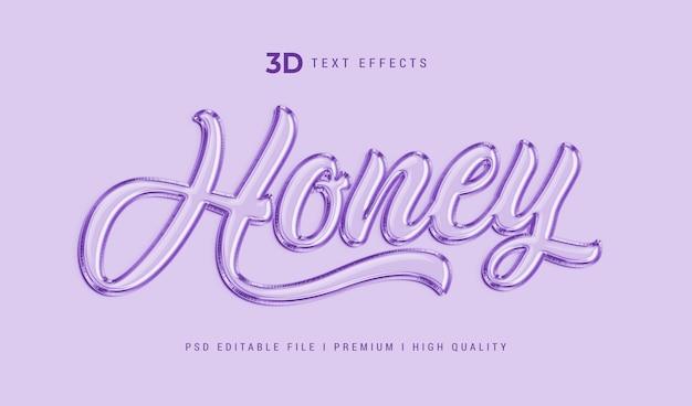 Modelo de efeito de estilo de texto mel 3d