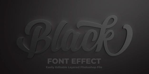 Modelo de efeito de estilo de texto preto