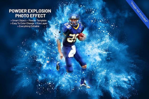 Modelo de efeito de foto de explosão de pó