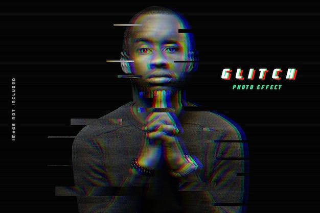 Modelo de efeito de foto de glitch