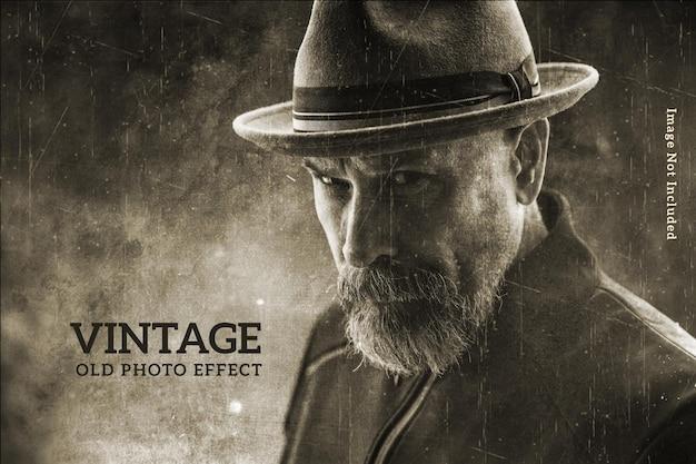 Modelo de efeito de foto vintage