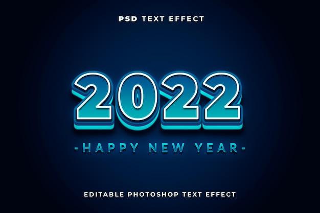 Modelo de efeito de texto 3d 2022