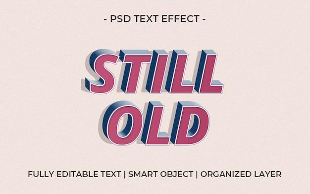 Modelo de efeito de texto 3d ainda antigo