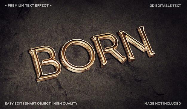 Modelo de efeito de texto 3d born