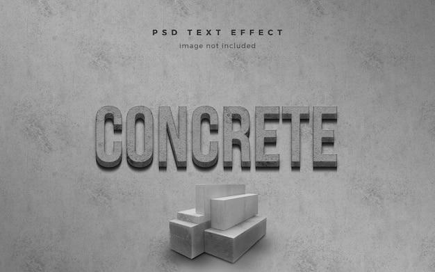 Modelo de efeito de texto 3d concreto