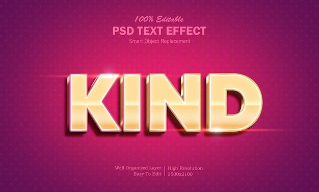 Modelo de efeito de texto 3d de cor dourada brilhante