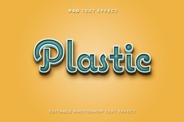 Modelo de efeito de texto 3d de plástico com estilo de cor vintage