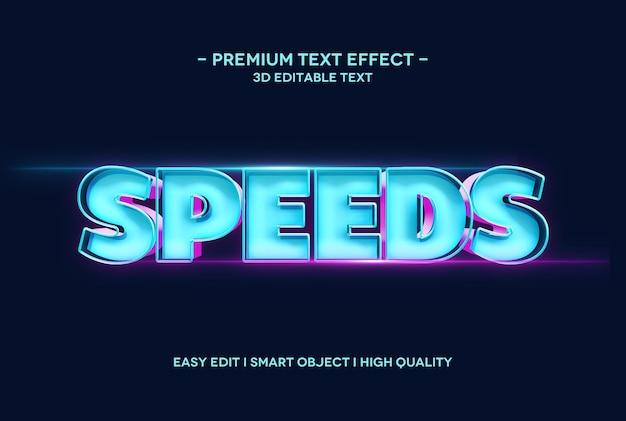 Modelo de efeito de texto 3d de velocidades