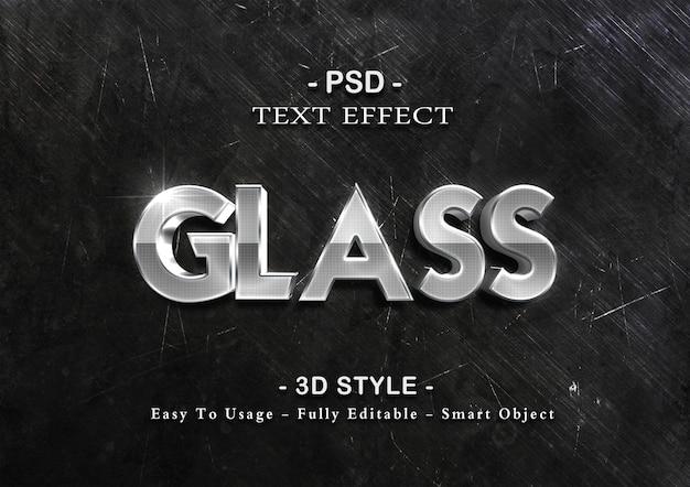 Modelo de efeito de texto 3d de vidro