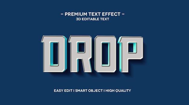 Modelo de efeito de texto 3d drop