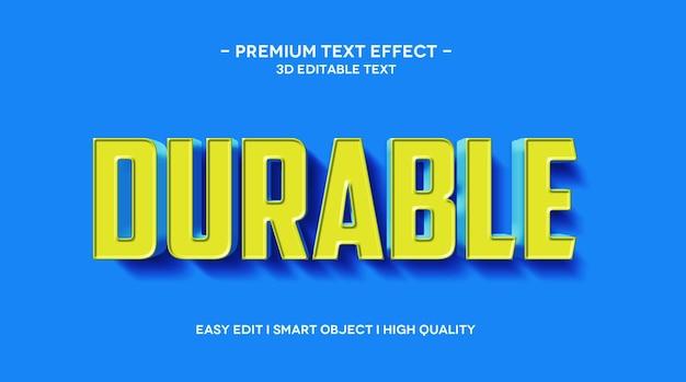 Modelo de efeito de texto 3d durável