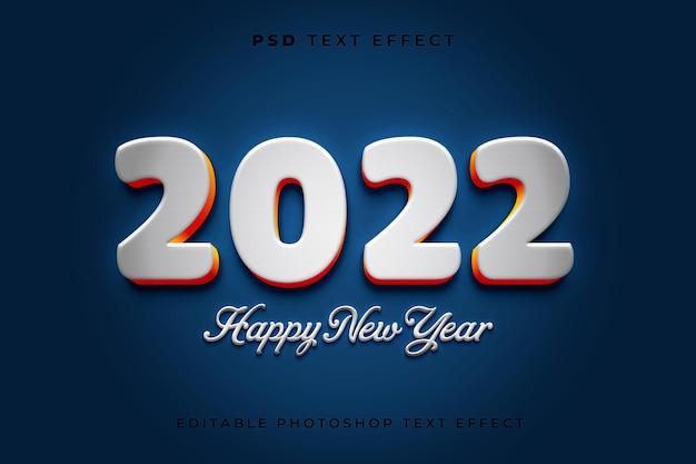 Modelo de efeito de texto 3d feliz ano novo
