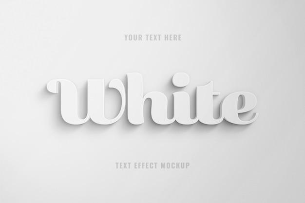 Modelo de efeito de texto 3d gordinho