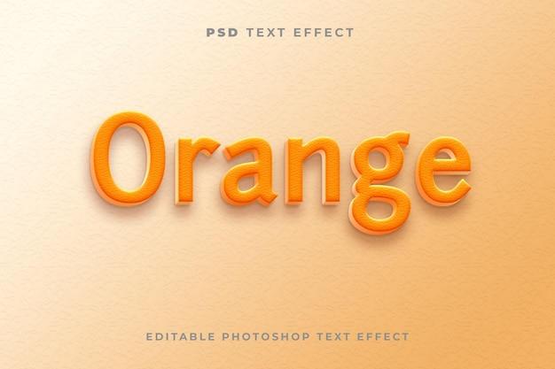 Modelo de efeito de texto 3d laranja