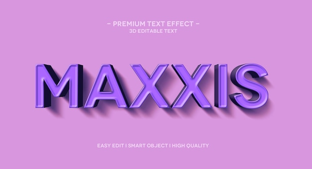 Modelo de efeito de texto 3d maxxis