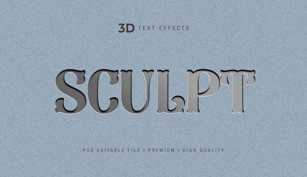 Modelo de efeito de texto 3d para escultura