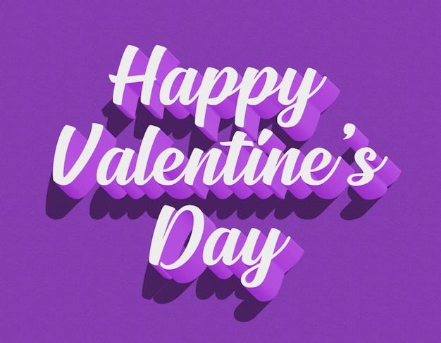 Modelo de efeito de texto 3d para feliz dia dos namorados