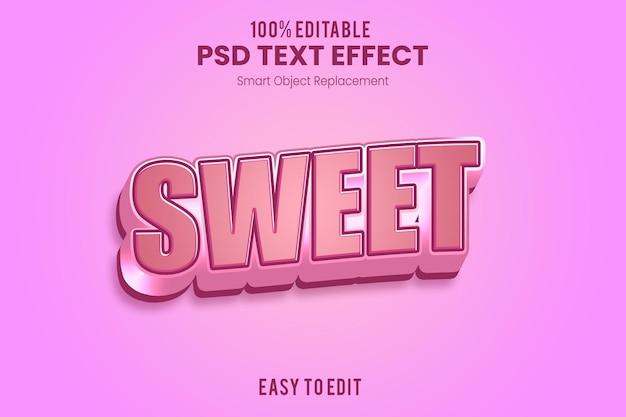 Modelo de efeito de texto 3d rosa