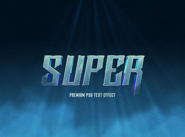 Modelo de efeito de texto azul super escuro Psd Premium