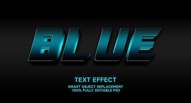 Modelo de efeito de texto azul