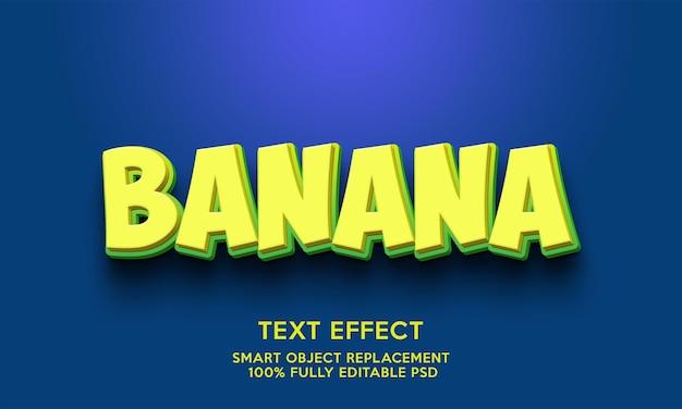 Modelo de efeito de texto banana