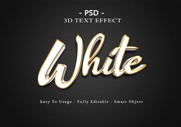 Modelo de efeito de texto branco 3d