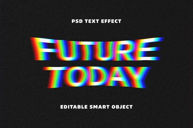 Modelo de efeito de texto com distorção irregular