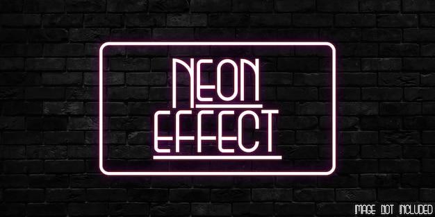 Modelo de efeito de texto com efeito néon