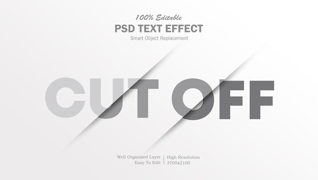 Modelo de efeito de texto cortado