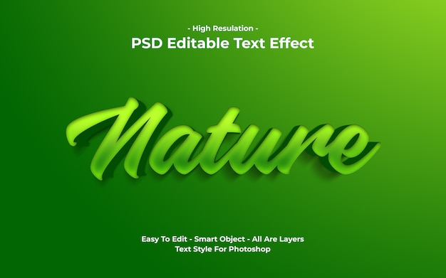 Modelo de efeito de texto da natureza