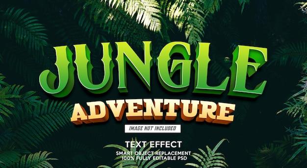 Modelo de efeito de texto de aventura na selva