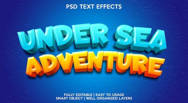 Modelo de efeito de texto de aventura submarina