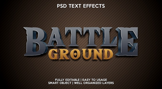 Modelo de efeito de texto de battle ground