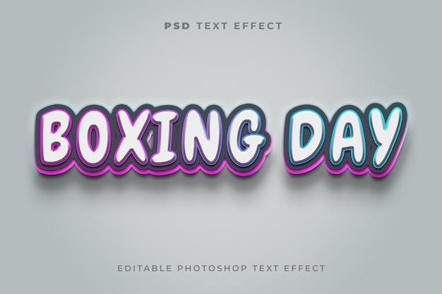 Modelo de efeito de texto de boxing day 3d com gradiente
