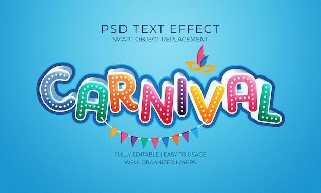 Modelo de efeito de texto de carnaval