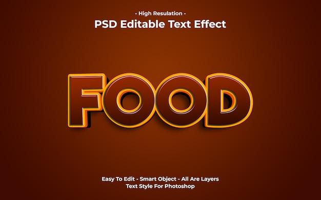 Modelo de efeito de texto de comida