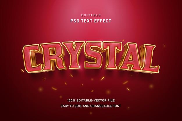 Modelo de efeito de texto de cristal