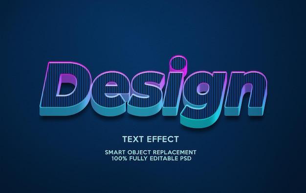 Modelo de efeito de texto de design