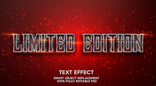Modelo de efeito de texto de edição limitada