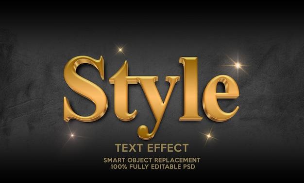 Modelo de efeito de texto de estilo