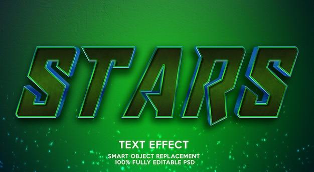 Modelo de efeito de texto de estrelas