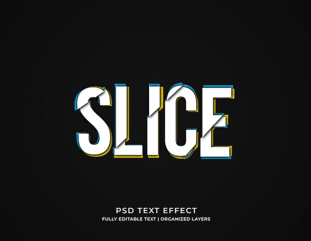 Modelo de efeito de texto de falha fatiada editável