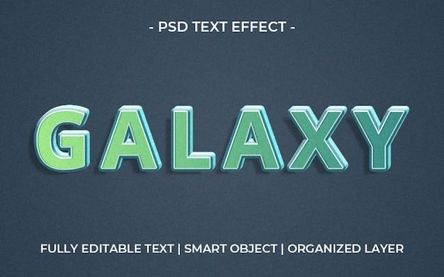 Modelo de efeito de texto de galáxia verde