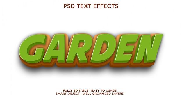 Modelo de efeito de texto de jardim