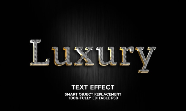 Modelo de efeito de texto de luxo