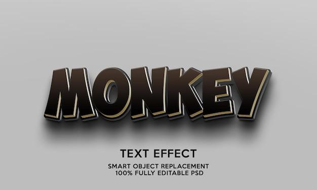 Modelo de efeito de texto de macaco