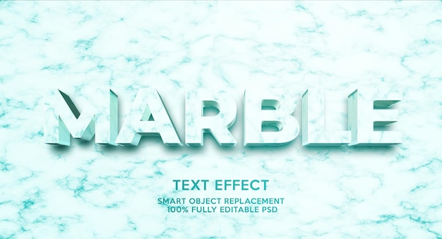 Modelo de efeito de texto de mármore