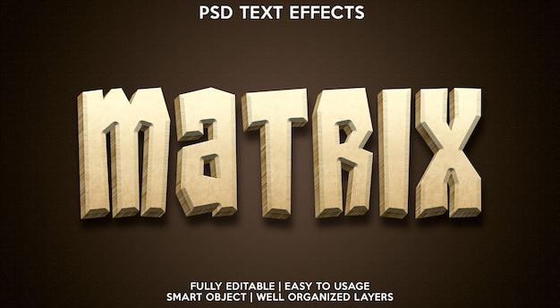 Modelo de efeito de texto de matriz