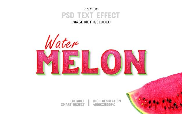 Modelo de efeito de texto de melancia